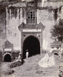 Close view of main entrance to Alif khan's Mosque, Dholka